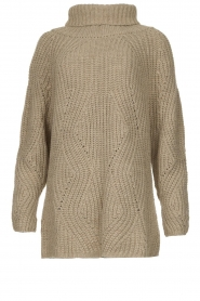 Be Pure |  Oversized turtleneck sweater Lola | beige  | Picture 1