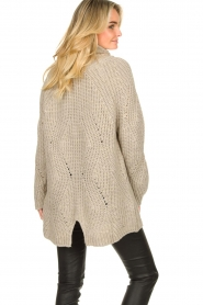 Be Pure |  Oversized turtleneck sweater Lola | beige  | Picture 5