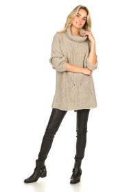 Be Pure |  Oversized turtleneck sweater Lola | beige  | Picture 3