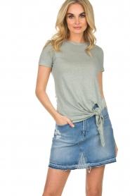BLAUMAX |  Linen T-shirt Alicia | blue  | Picture 2