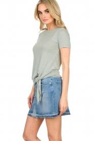 BLAUMAX |  Linen T-shirt Alicia | blue  | Picture 4