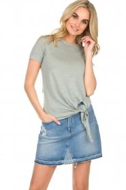 BLAUMAX |  Linen T-shirt Alicia | blue  | Picture 3