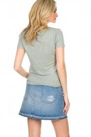 BLAUMAX |  Linen T-shirt Alicia | blue  | Picture 5