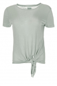BLAUMAX |  Linen T-shirt Alicia | blue  | Picture 1