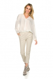 Patrizia Pepe |  Silk top Irina | white  | Picture 3
