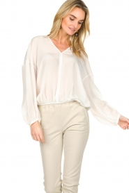 Patrizia Pepe |  Silk top Irina | white  | Picture 4