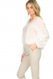 Patrizia Pepe |  Silk top Irina | white  | Picture 5