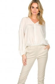Patrizia Pepe |  Silk top Irina | white  | Picture 2