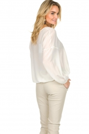 Patrizia Pepe |  Silk top Irina | white  | Picture 6
