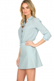 Patrizia Pepe |  Blouse with silver details Marie | light blue  | Picture 4