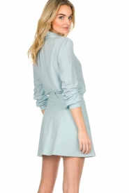 Patrizia Pepe |  Blouse with silver details Marie | light blue  | Picture 5