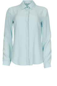Patrizia Pepe |  Blouse with silver details Marie | light blue
