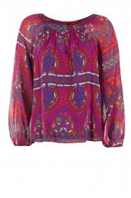 Alice & Trixie | Zijden blouse Veronica | paars  | Afbeelding 1