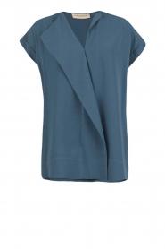 By Malene Birger | Asymmetrische top Tobson | blauw  | Afbeelding 1