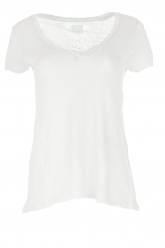 BLAUMAX | 100% linnen T-shirt Faro | wit  | Afbeelding 1