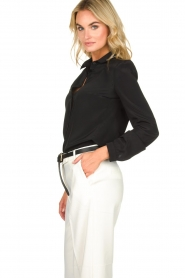Patrizia Pepe |  Blouse with silver details Marie | black  | Picture 4