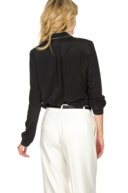 Patrizia Pepe |  Blouse with silver details Marie | black  | Picture 5