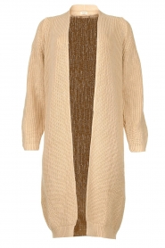 Be Pure |  Long cotton cardigan Sandy | beige  | Picture 1