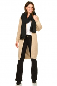 Be Pure |  Long cotton cardigan Sandy | beige  | Picture 3