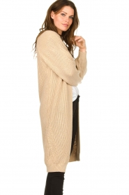 Be Pure |  Long cotton cardigan Sandy | beige  | Picture 5