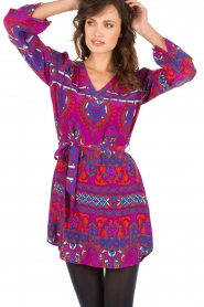 Alice & Trixie |  Silk tunic dress Whitney | purple  | Picture 2