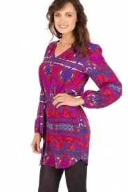 Alice & Trixie |  Silk tunic dress Whitney | purple  | Picture 4