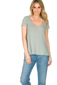 Blaumax    100% linen T-shirt Faro   blue    Picture 2
