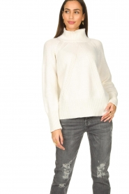 Be Pure |  Rib sweater Chris | white  | Picture 4