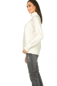 Be Pure |  Rib sweater Chris | white  | Picture 5