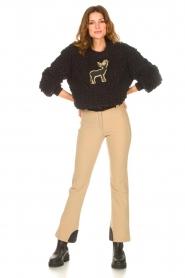 Goldbergh |  Slim fit ski pants Pippa | beige  | Picture 2