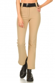 Goldbergh |  Slim fit ski pants Pippa | beige  | Picture 4