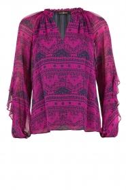 Alice & Trixie | Zijden blouse Mercer | fuchsia  | Afbeelding 1