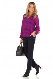 Alice & Trixie | Zijden blouse Mercer | fuchsia  | Afbeelding 3