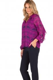 Alice & Trixie | Zijden blouse Mercer | fuchsia  | Afbeelding 4
