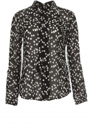 Patrizia Pepe |  Blouse with dots print Nicole | black  | Picture 1