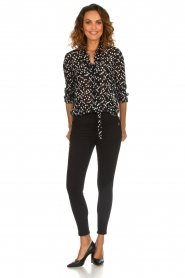 Patrizia Pepe |  Blouse with dots print Nicole | black  | Picture 3