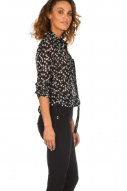 Patrizia Pepe |  Blouse with dots print Nicole | black  | Picture 4