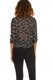 Patrizia Pepe |  Blouse with dots print Nicole | black  | Picture 5