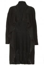 Be Pure |  Cardigan with fringe details Cindy | black  | Picture 1