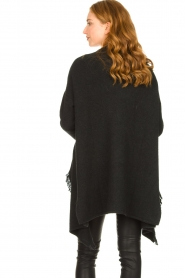 Be Pure |  Cardigan with fringe details Cindy | black  | Picture 6
