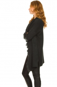 Be Pure |  Cardigan with fringe details Cindy | black  | Picture 5