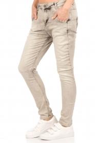 Aaiko | Skinny jeans Mion lengtemaat 30 | grijs  | Afbeelding 4