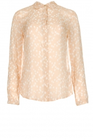 Patrizia Pepe |  Blouse with dots print Nicole | beige  | Picture 1