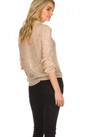Patrizia Pepe |  Blouse with dots print Nicole | beige  | Picture 5