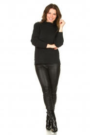 Be Pure |  Soft turtleneck sweater Alice | black  | Picture 3