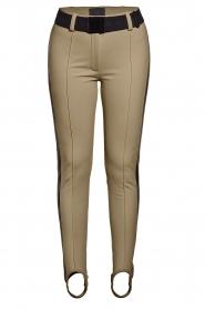 Goldbergh |  Ski pants with stirrup Vintage | beige  | Picture 1
