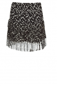 Patrizia Pepe |  Fringe skirt with dots print Pelazzi | black  | Picture 1