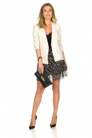 Patrizia Pepe |  Fringe skirt with dots print Pelazzi | black  | Picture 3