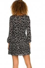 Patrizia Pepe |  Fringe skirt with dots print Pelazzi | black  | Picture 6