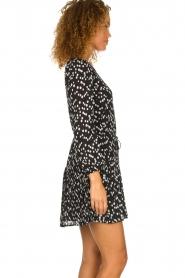 Patrizia Pepe |  Fringe skirt with dots print Pelazzi | black  | Picture 5